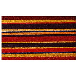 Home & More Bodarin Stripe 17-Inch x 29-Inch Multicolor Door Mat