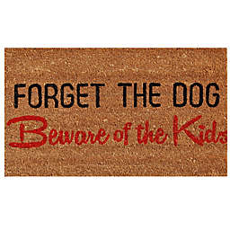 Home & More Forget the Dog 17-Inch x 29-Inch Door Mat in Natural/Black