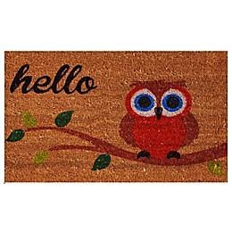 Home & More Elf Owl Hello 17-Inch x 29-Inch Multicolor Door Mat