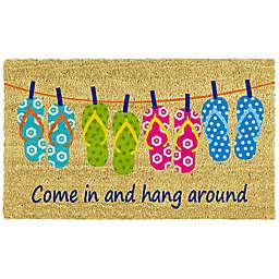 Home & More Flip-Flop Fun 17-Inch x 29-Inch Multicolor Door Mat