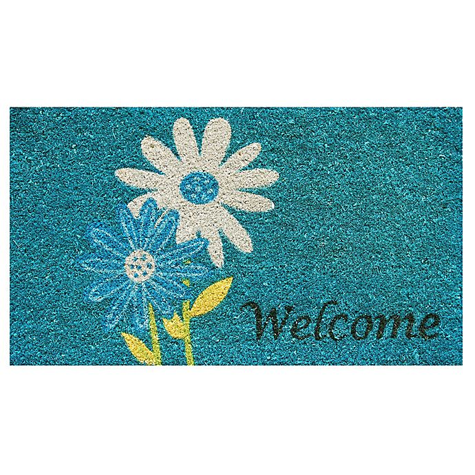 Alternate image 1 for Home & More Daisy Welcome 17-Inch x 29-Inch Multicolor Door Mat