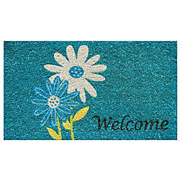 Home & More Daisy Welcome 17-Inch x 29-Inch Multicolor Door Mat