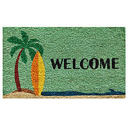 Home & More Surf's Up 17-Inch x 29-Inch Multicolor Door Mat
