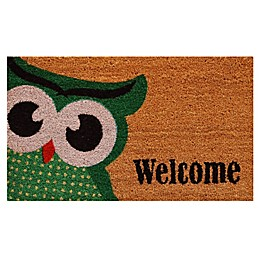 Home & More Owlet Welcome 17-Inch x 29-Inch Multicolor Door Mat
