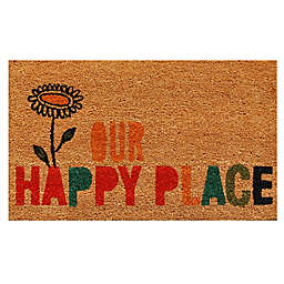 Home & More Our Happy Place 17-Inch x 29-Inch Multicolor Door Mat