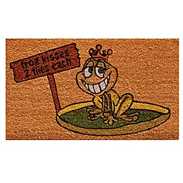 Home & More Frog Kisses 17-Inch x 29-Inch Multicolor Door Mat