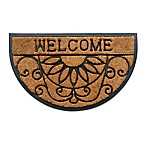 Home & More Welcome Scroll 18-Inch x 30-Inch Door Mat in Natural/Black