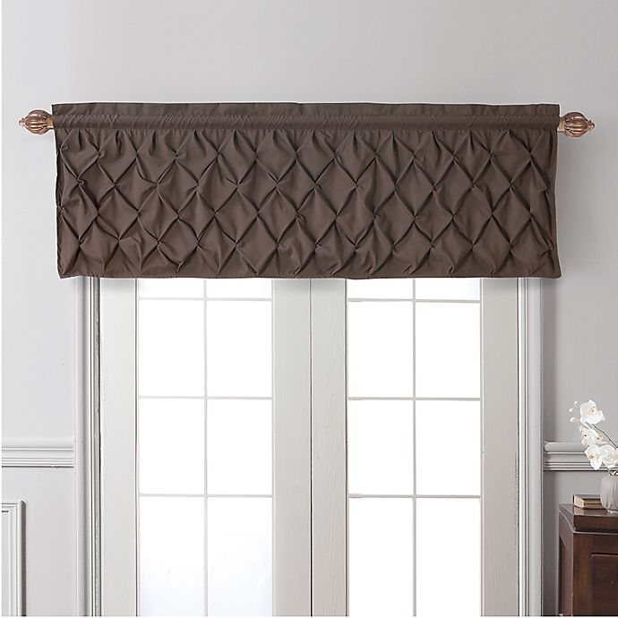 Alternate image 1 for VCNY Home Carmen Window Valance in Chocolate
