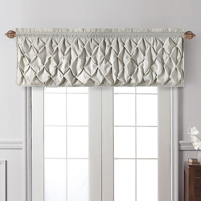 Alternate image 1 for VCNY Home Carmen Window Valance in Taupe
