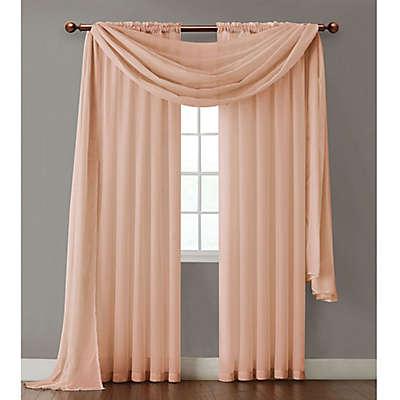 Sheer Peach Curtains Bed Bath Beyond