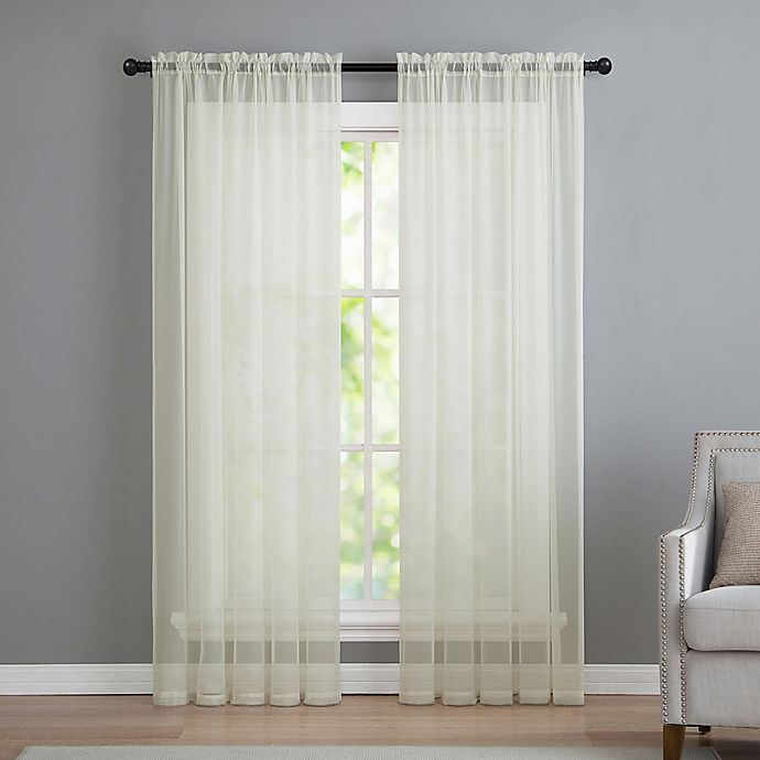 Alternate image 1 for VCNY home Infinity Sheer Rod Pocket 95-Inch Window Curtain Panel in Ivory
