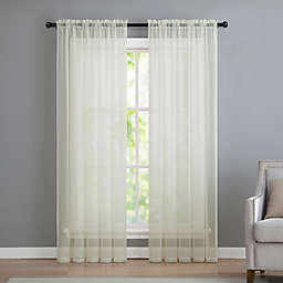VCNY home Infinity Sheer Rod Pocket 95-Inch Window Curtain Panel in Ivory