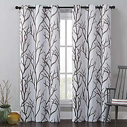VCNY Home Kingdom 84-Inch Grommet Top Room Darkening Window Curtain Panel in Brown/Taupe