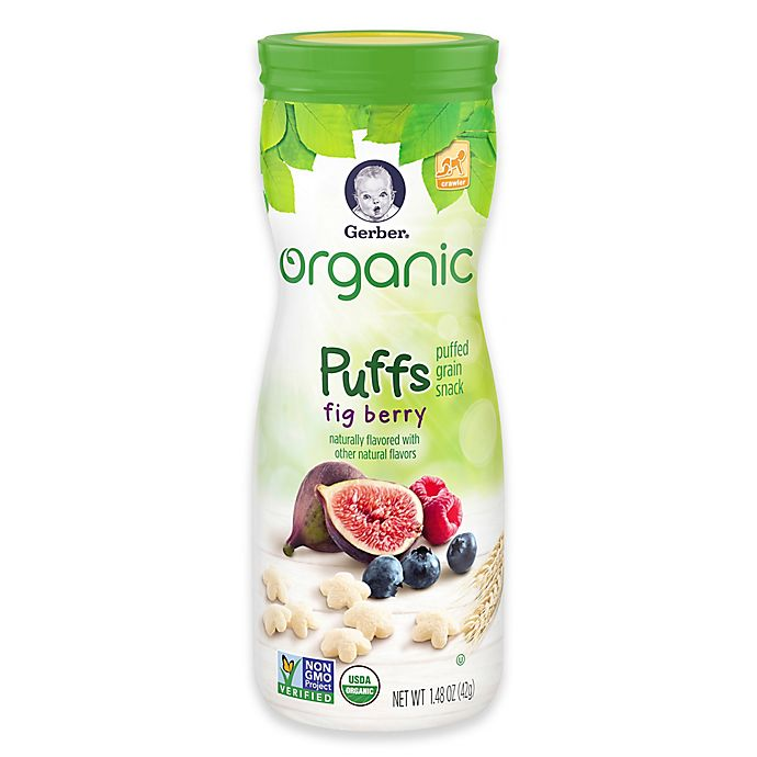 Alternate image 1 for Gerber® 1.48 oz. Organic Puffs Grain Snack in Fig Berry