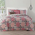 Avondale Manor Greer King Reversible Quilt Set in Coral/Taupe