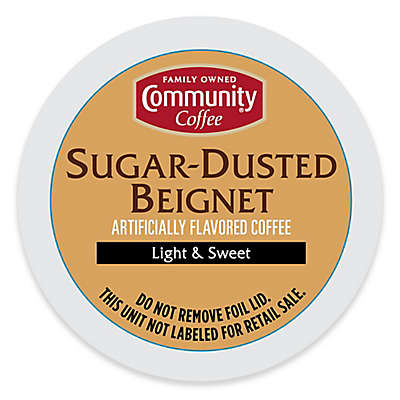 18-Count Community Coffee® Sugar Dusted Beignet for Single Serve Coffee Makers