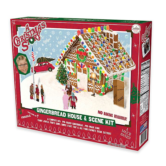 Christmas Gingerbread House Kit.Cookies United A Christmas Story Gingerbread House And