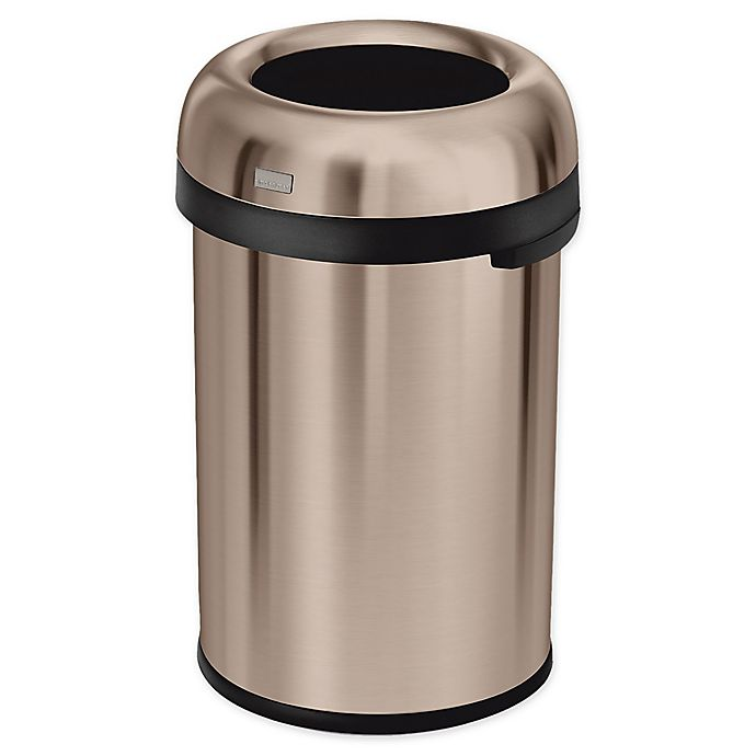 Alternate image 1 for simplehuman® 115 Liter Bullet Trash Can in Rose Gold