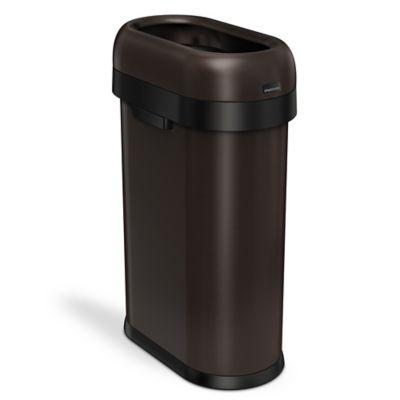 simplehuman 50 liter slim open trash can bed bath beyond. Black Bedroom Furniture Sets. Home Design Ideas