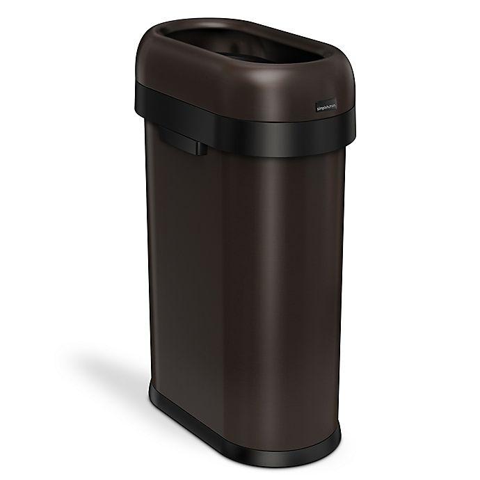 Alternate image 1 for simplehuman® 50 Liter Slim Open Trash Can