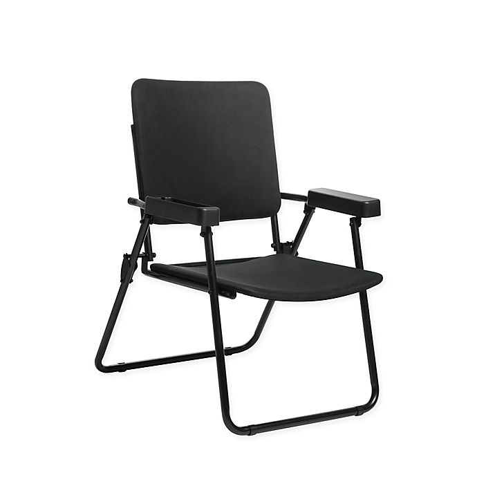 Alternate image 1 for HoMedics® Folding Chair for Massage Cushions in Black