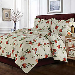 Tribeca Living Madrid Floral Duvet Cover Set