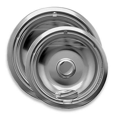 Range Kleen®  2-Pack Style A Drip Pan in Chrome