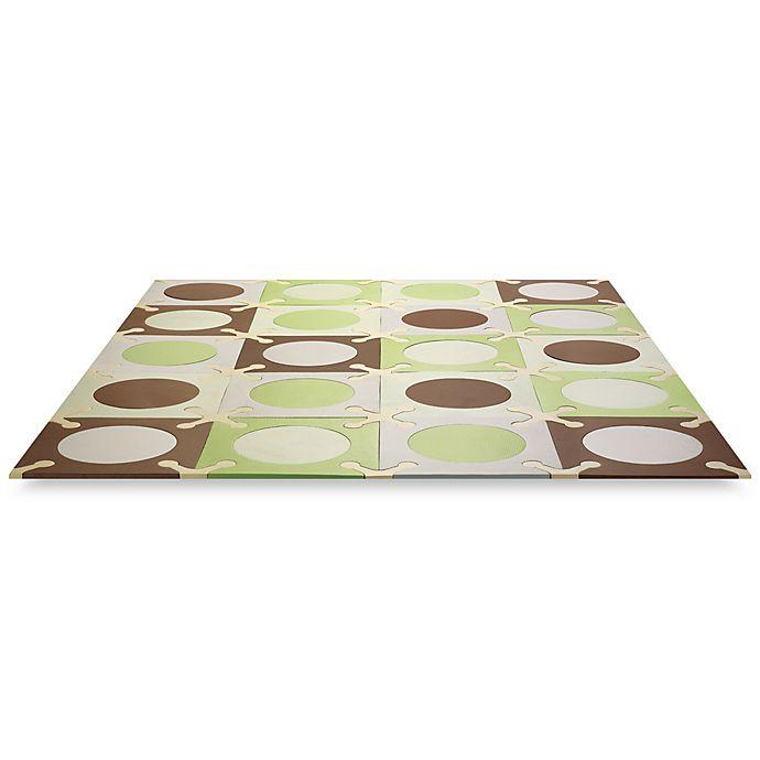 Alternate image 1 for SKIP*HOP® Playspot Green and Brown Interlocking Foam Tiles