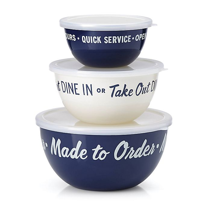 Alternate image 1 for kate spade new york All in Good Taste™ Order's Up 3-Piece Serve and Store Bowl Set
