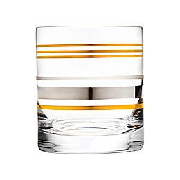 Top Shelf Pure Platinum and Gold Double Old Fashioned Glasses (Set of 4)