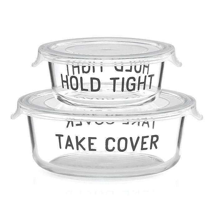Alternate image 1 for kate spade new york All in Good Taste™ 2-Piece Covered Food Storage Set