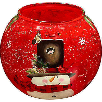 Ne'Qwa Art Snowman Candle Holder