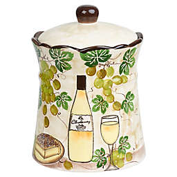 Lorren Home Trends White Grape Cookie Jar