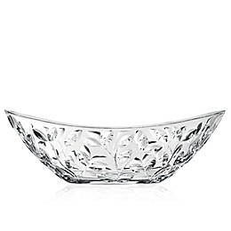 Lorren Home Trends Laurus 13.5-Inch Oval Crystal Bowl