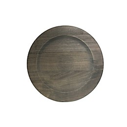 Charge It By Jay! 13-Inch Wooden Charger Plate in Grey