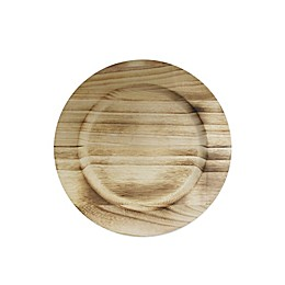 Charge It By Jay! 13-Inch Wooden Charger Plate in Brown