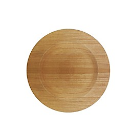 Charge It By Jay! Wooden Charger Plate in Brown