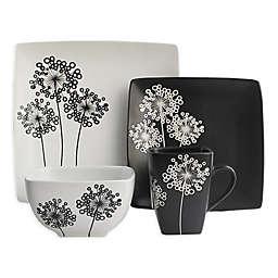 American Atelier Marisole 16-Piece Dinnerware Set in Black/White