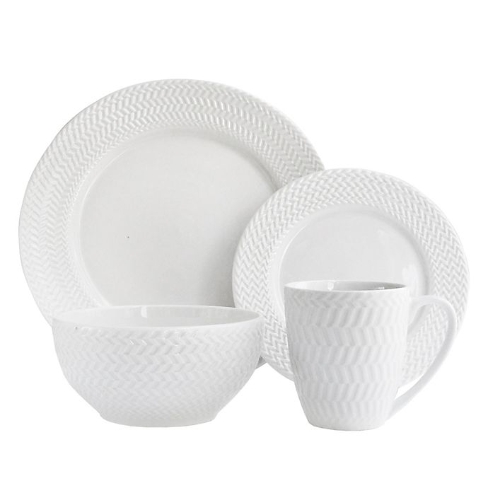 Alternate image 1 for American Atelier Bridgette 16-Piece Dinnerware Set in White