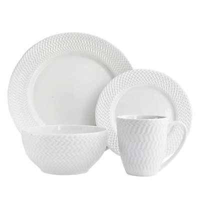 American Atelier Bridgette 16-Piece Dinnerware Set in White