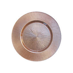 Charge It By Jay! 13-Inch Rose Charger Plate in Gold