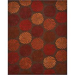 Nourison Contours Multicolor Pinwheel Rug