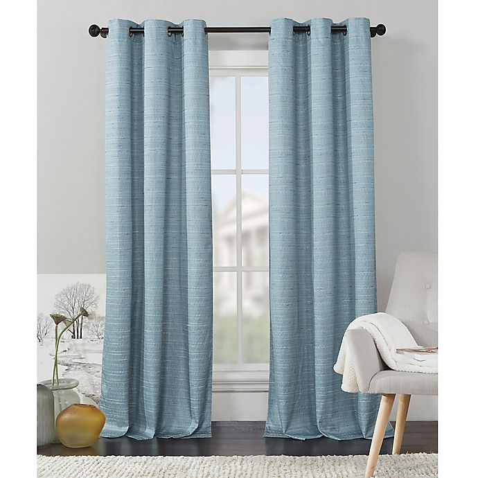 9df53922f67c VCNY Home Livingston Foamback Grommet Top Window Curtain Panel Pair ...