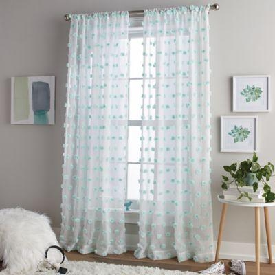 Pom Pom Rod Pocket Window Curtain Panel Bed Bath And
