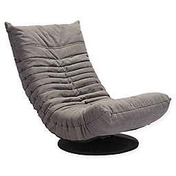 Zuo® Down Low Swivel Chair in Grey