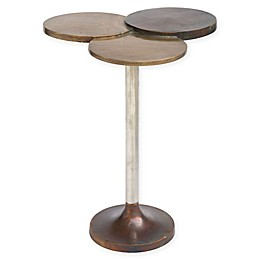 Dundee Accent Table in Antique Brass