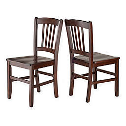 Winsome Madison Dining Side Chairs in Walnut (Set of 2)