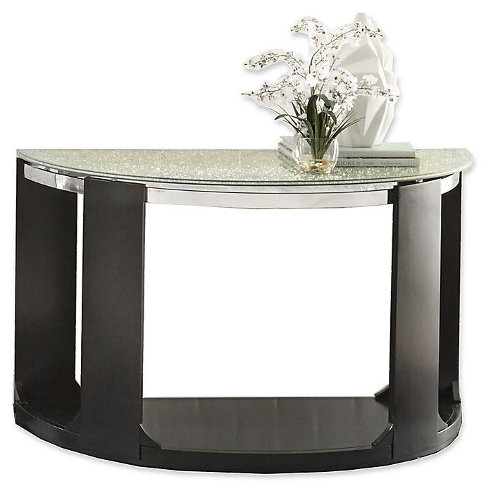 Alternate image 1 for Steve Silver Co. Croften Cracked Glass Sofa Table in Black