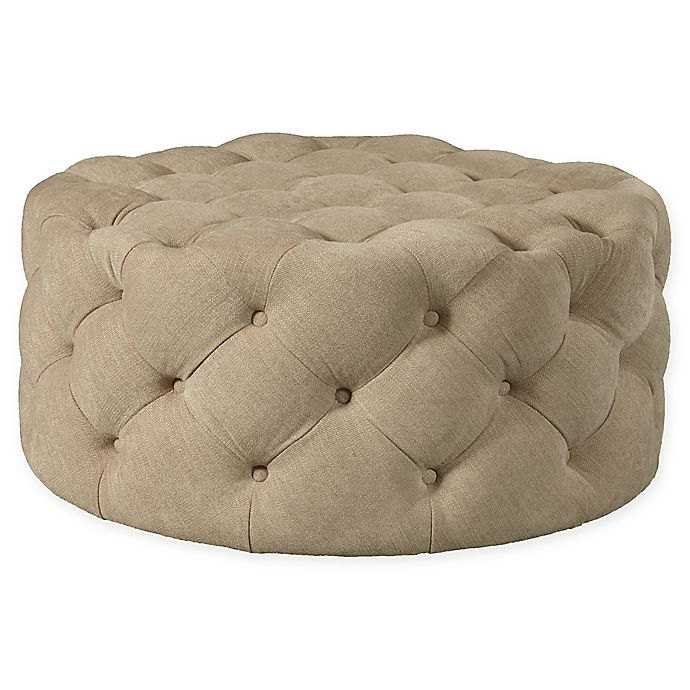 Bed Bath And Beyond Beaumont: Pulaski Round Cocktail Ottoman With Casters