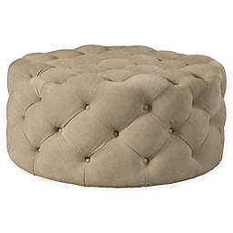 Pulaski Round Cocktail Ottoman with Casters